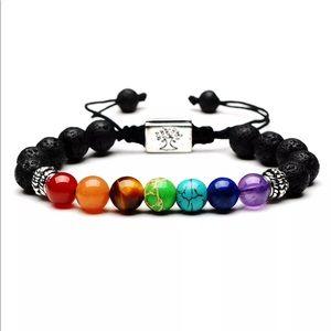 7 Chakra Yoga Natural Stone Beaded Bracelet